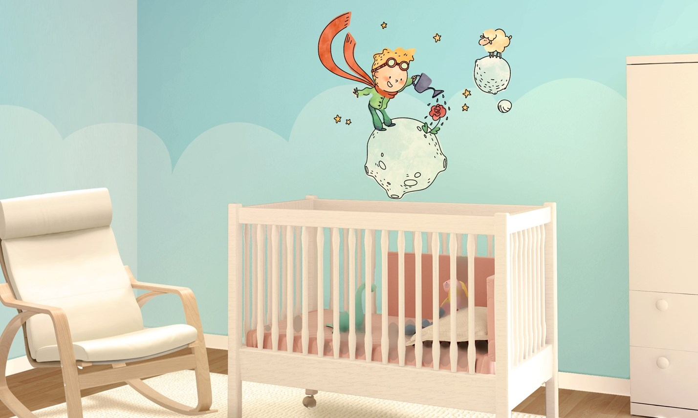 Stickers murali bambini cameretta il piccolo principe for Decorazioni stanza